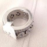 Inel SUPERB argint Placat cu Aur 18k si Swarovski- marimea 7 ,17mm -Tip Pandora