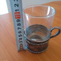 VAND SCHIMB Pahar ceai cu suport argint masiv GERMANIA+bonus.2+1GRATIS