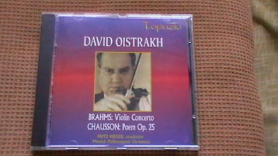 David Oistrakh - Brahms - Concert vioara + Chausson - Poem foto
