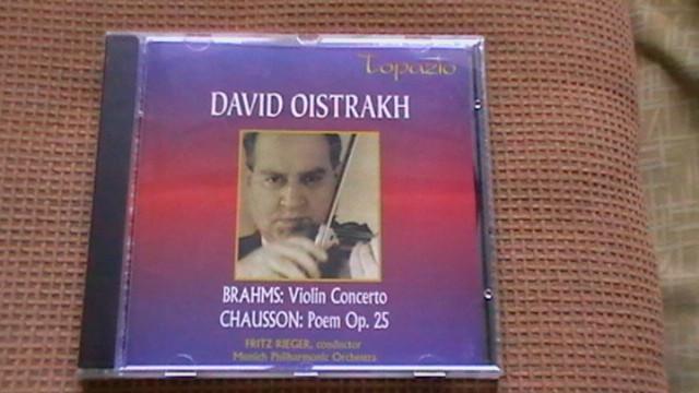 David Oistrakh - Brahms - Concert vioara + Chausson - Poem