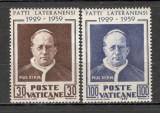 Vatican. 1959 30 ani Pactul Lateranensi  KY.319, Nestampilat