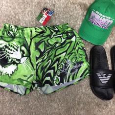 Sort de baie/bermude plaja/pantaloni scurti piscina/inot D&G Dolce Gabbana 2017! - Bermude barbati D&G, Marime: XL, Culoare: Verde, Poliester