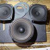 Set 3 difuzoare/woofer+2 banda larga / woofer 4Ohmi/50W /16cm cititi descrierea!