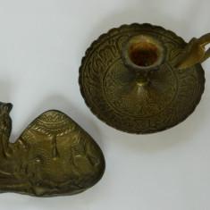 Sfesnic si camila bronz scrumiera - Metal/Fonta