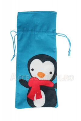 Saculet albastru pinguin foto