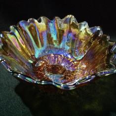 Iridescent Marigold Glass Bowl - Bol sticla