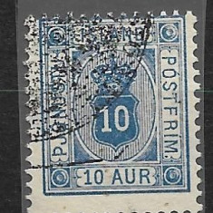 ISLANDA 1876, Stampilat