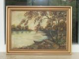 Tablou peisaj semnat Moldovanu, Peisaje, Ulei, Realism