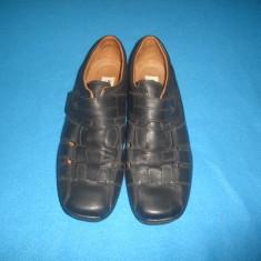 PANTOFI DE VARA JOMOS DE PIELE ORIGINALI MARIMEA 47 - Pantofi barbat, Culoare: Din imagine, Piele naturala