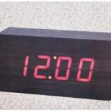 Ceas Electronic Cu Termometru, Afisaj Cu LED-Uri, Albastru - Ceas de perete