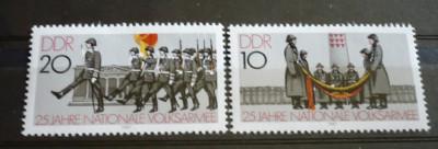 Germania (DDR) 1981 ? ZIUA ARMATEI, serie nestampilata AM7 foto