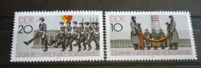 Germania (DDR) 1981 ? ZIUA ARMATEI, serie nestampilata AM7