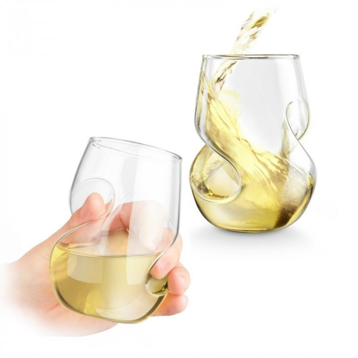 Set 4 pahare vin alb foto mare