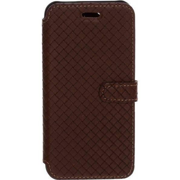 Husa Flip Cover Tellur Cross piele pentru iPhone 5/5S/SE Maro