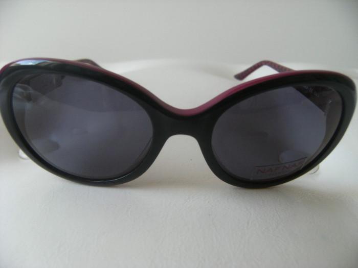 Ochelari de soare NAF NAF,cat.3,NA 7989 105 52-17 03,noi,visiniu/negru. foto mare