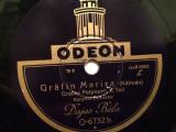 KALMAN - COUNTESS MARIZA (ODEON/GERMANY) - DISC PATEFON/GRAMOFON/Stare F.Buna, Alte tipuri suport muzica