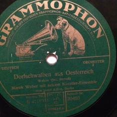 J.STRAUSS - THE GYPSY BARON -WALZER (GRAMMOPHON/GERMANY) - DISC PATEFON/GRAMOFON - Muzica Clasica Altele, Alte tipuri suport muzica