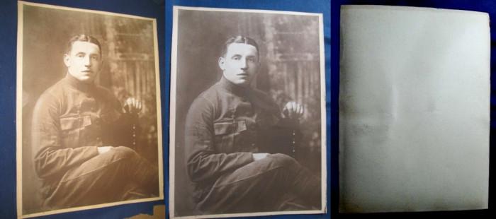 Foto mare carton militar Belgia. foto mare