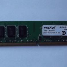 2 Gb Ram DDR2 / 667 Mhz / Crucial PC2-5300U Dual chanell (31A) - Memorie RAM