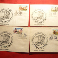 Set 6 Plicuri Expozitia Internationala Canina- Cocib'93