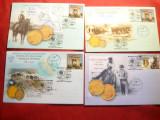 Set 5 Plicuri - 125 Ani moneda  Iuliu Popper 1889-2014