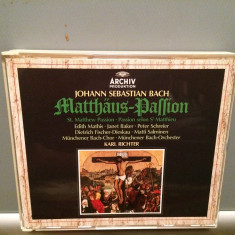 BACH - ST.MATTHEW PASSION - 3CD BOX (1980/POLYDOR REC/RFG) - CD ORIGINAL - Muzica Clasica universal records