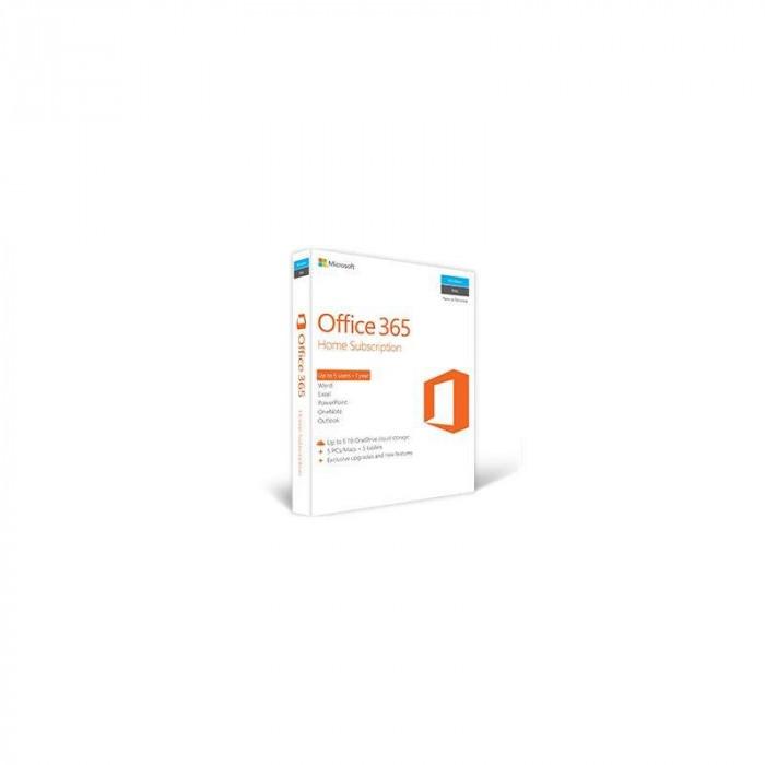 Office 365 Home Microsoft 32 64 biti Engleza Subscriptie 1 an 5 utilizatori foto mare