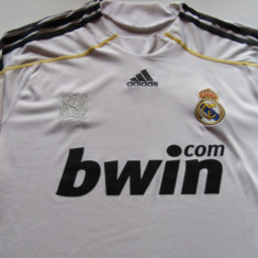 Tricou fotbal jucatorul BENZEMA - REAL MADRID - Tricou echipa fotbal, Marime: L, Culoare: Alb