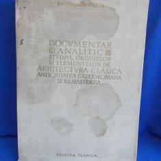R. BORDENACHE / H. STERN - DOCUMENTAR ANALITIC ARHITECTURA CLASICA - 1957