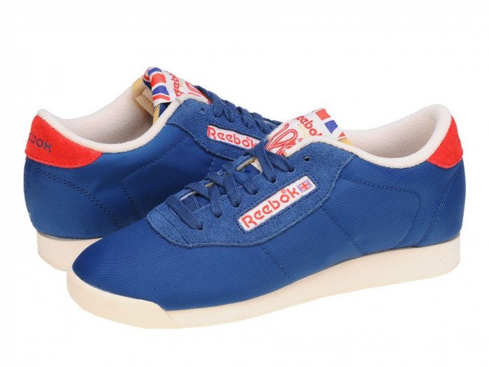 Adidasi casual femei Reebok Classic Princess Vintage Inspired blue-red-sandtrap V55110 foto mare