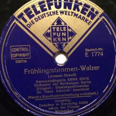 J.STRAUSS - WALZER (TELEFUNKEN/GERMANY)- DISC PATEFON/GRAMOFON/stare Foarte Buna - Muzica Clasica, Alte tipuri suport muzica