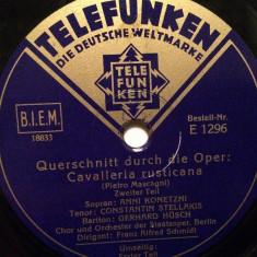 MASCAGNI - CAVALLERIA..(GRAMMOPHON/GERMANY) - DISC PATEFON/GRAMOFON/Stare F.Buna - Muzica Clasica, Alte tipuri suport muzica