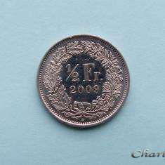 ELVETIA - 1/2 Franc 2009, Europa, Cupru-Nichel