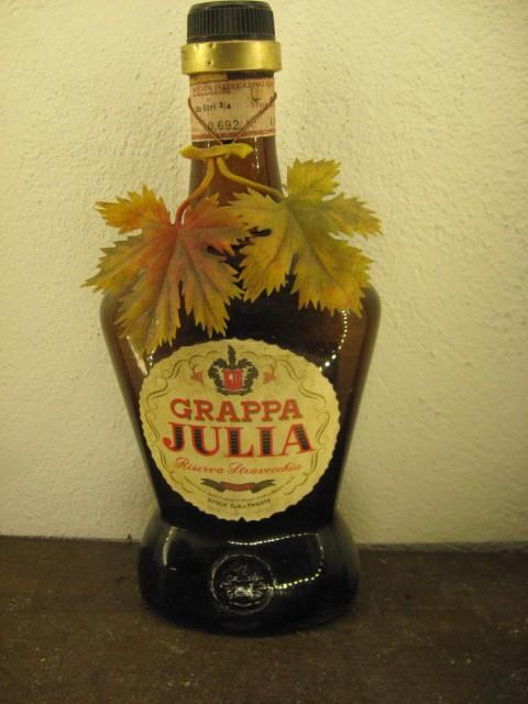 tuica, grappa italiana, Stock, JULIA, ani 1950/60, cl 75 gr 42 sticla C 2431043 foto mare