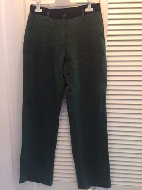 Pantaloni din in, dama ARMANI JEANS, mas. 40 foto mare