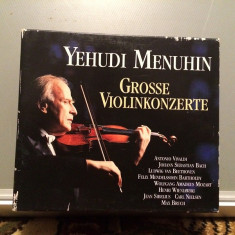 MENUHIN -Great Violin Concertos -5CD BOX (1994/EMI/UK) - CD ORIGINAL/Sigilat/Nou - Muzica Clasica emi records