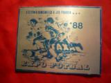 Placheta aluminiu Expo-Fotbal 1988- sectia numismatica a jud.Prahova