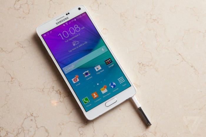 Samsung Galaxy Note 4 foto mare