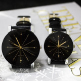 NOU Set 2 ceasuri dama barbat negru hexagon strasuri curea piele GENEVA QUARTZ - Ceas dama Geneva, Elegant, Piele - imitatie, Analog