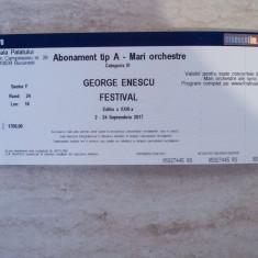 Abonamente Festivalul Enescu 2017 - Bilet concert