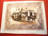 Fotografie Bucuresti 1905- copie -Tramvai cu cai -Calea Mosilor , 29,7x22,8 cm