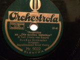 FRANZ von SUPPE - (ORCHESTROLA/GERMANY) - DISC PATEFON/GRAMOFON/Stare F.Buna