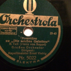 FRANZ von SUPPE - (ORCHESTROLA/GERMANY) - DISC PATEFON/GRAMOFON/Stare F.Buna - Muzica Clasica, Alte tipuri suport muzica