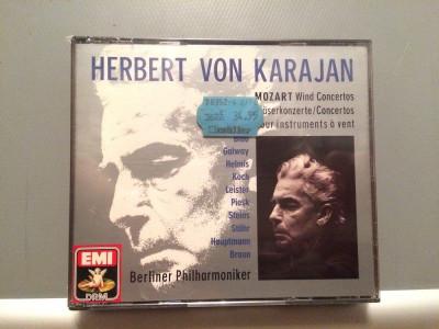 MOZART- KARAJAN/Berliner -3CD BOX (1990/EMI/W.GERMANY) - CD ORIGINAL/Sigilat/Nou foto