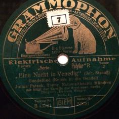 OFFENBACH - THE GOLDSMITH OF TOLEDO (GRAMMOPHON/GERMANY) - DISC PATEFON/GRAMOFON - Muzica Clasica Altele, Alte tipuri suport muzica