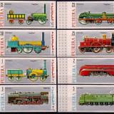 Fujeira 1969 12 Euro locomotive - serie nedantelata nestampilata MNH - Timbre straine