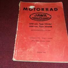 MOTORRAD JAWA CARTE TEHNICA 1961 - Carti auto