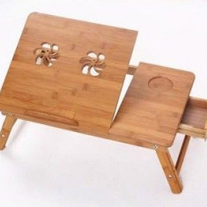 Masa din Bambus pentru Laptop Multifunctionala E-Table NOI - Masa Laptop