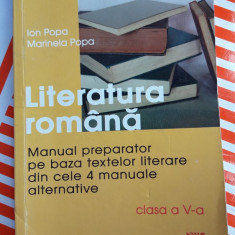 LITERATURA ROMANA MANUAL PREPARATOR PE BAZA TEXTELOR LITERARE - Teste admitere liceu