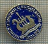 ZET 599 INSIGNA -FESTIVALUL INTERNATIONAL AL MUZICILOR MILITARE - BRAILA 2004
